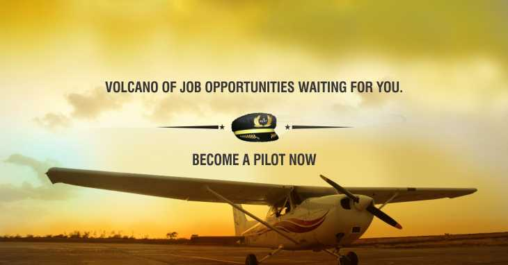 Volcano of Job opportunities waiting for you.   Become a Pilot now